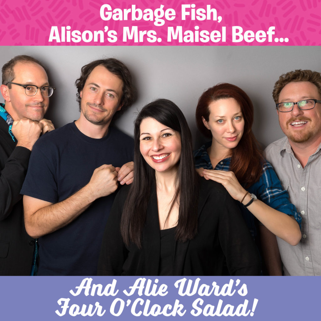 Garbage fish alison 39 s mrs maisel beef alie ward 39 s four for Fishing reel ringtone
