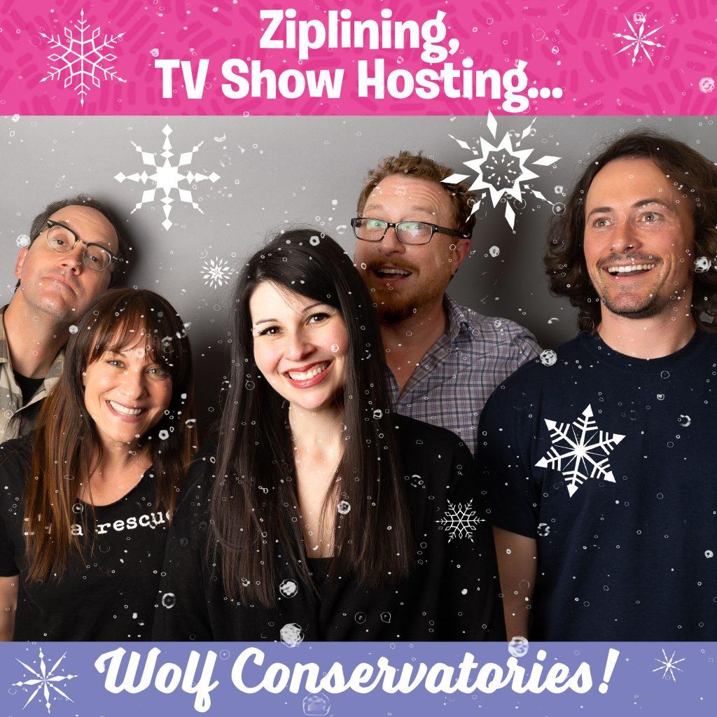 Ziplining, TV Show Hosting, Wolf Conservatories | Alison Rosen